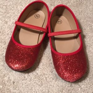 Other - Girls red glitter dress shoes